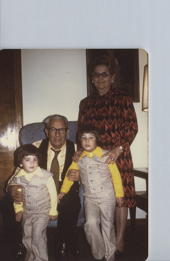 Detroit Mafia Chieftan Joe Zerilli with family in the late 60's