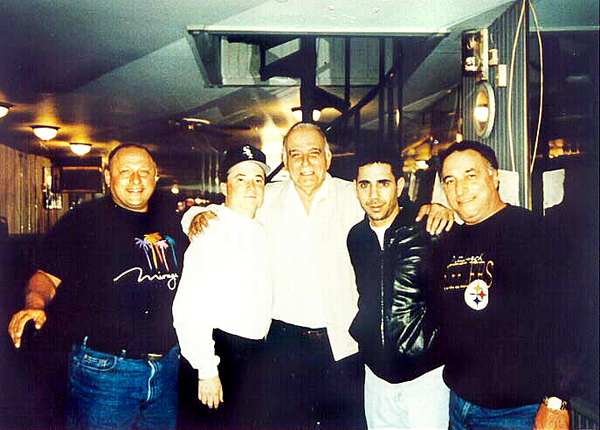 Georgie Boy (2nd from L), Skinny Joey (2nd from R), & Uncle Joe (far R) in better times circa 1998
