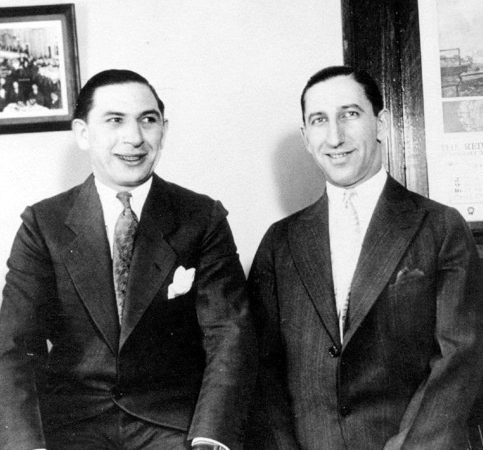"""""""Sammy Purple"""" Cohen (right) with his Prohibition Era Purple Gang partner-in-crime """"Sammy K"""" Kert. Cohen and Kert were known around Detroit as """"The Two Sammys."""""""
